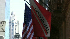Carnegie Hall in New York City Stock Footage