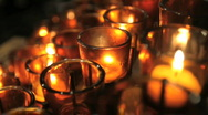 Stock Video Footage of Votive Candles