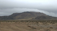 Peak Low Clouds-B,  Johnson Valley, Time Lapse Stock Footage