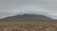 Peak Low Clouds-E, Johnson Valley, Time Lapse Stock Footage
