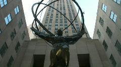 Rockefeller Center in New York City Stock Footage