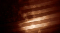 US flag sepia Stock Footage