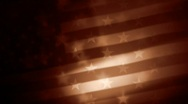 Stock Video Footage of US flag sepia