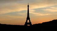 Stock Video Footage of Eiffel`s tower dusk