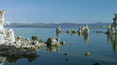 Mono Lake at South Tufa Stock Footage