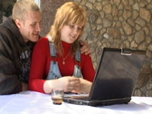 Stock Video Footage of family with laptop