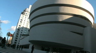 Stock Video Footage of Guggenheim Museum in New York City