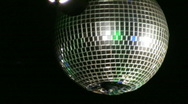 Stock Video Footage of disco ball with light in foreground
