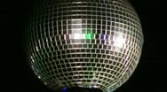 Stock Video Footage of disco ball medium shot