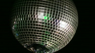Stock Video Footage of disco ball handheld shot