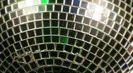 Stock Video Footage of disco ball close up 2