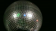 Disco ball medium shot left screen Stock Footage
