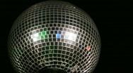 Stock Video Footage of disco ball medium shot left screen