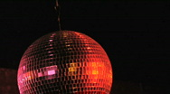 Stock Video Footage of disco ball red lights