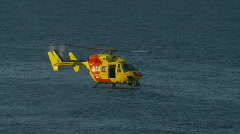 Rescue Helicopter Rescuing Drowning Man - Life Saving Stock Footage