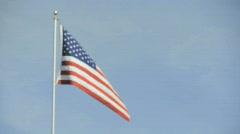 Flags, Brooklyn Bridge, New York Stock Footage