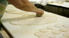 Cutting Dough 1625 Stock Footage