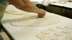 Cutting Dough 1625 Stock Footage
