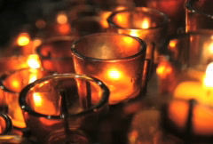 Votive Candles Stock Footage