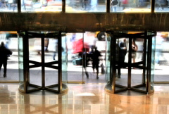 Revolving Doors Time Lapse - stock footage