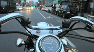 Motorcycle Riding in New York City Stock Footage