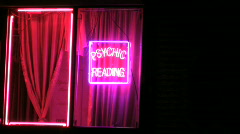 Psychics and tarot readers Stock Footage