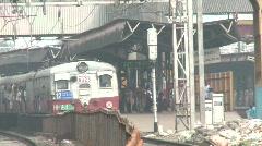 Mumbai local train Stock Footage