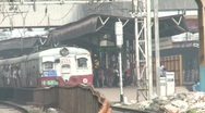 Stock Video Footage of Mumbai local train