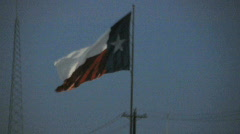 Texas flag Stock Footage