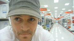 Man Shopping Time Lapse Stock Footage