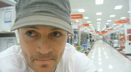 Stock Video Footage of Man Shopping Time Lapse