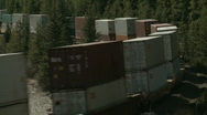Train with containers  Stock Footage