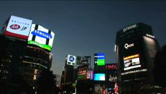 Shibuya, Tokyo Night Scene. Fashion center of Japan. Nightlife area Stock Footage