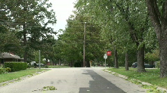 Street view of windstorm Stock Footage
