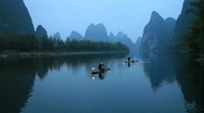 Fishermen In China Stock Footage