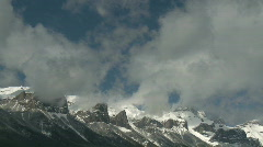 Rundle Mountain TL 6  Stock Footage