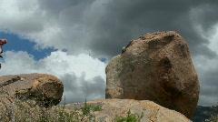 Hiking Boulders Stock Footage