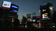 Stock Video Footage of Tokyo Shibuya - Night Scene 2
