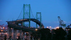 Vincent Thomas Bridge Timelapse at Night Stock Footage