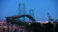 Stock Video Footage of Vincent Thomas Bridge Timelapse at Night