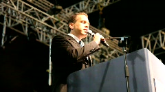 Earth Day party 2010: Minister of Environmental Protection, Gilad Erdan - stock footage