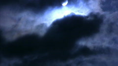 Time Lapse Moon and Clouds 09 x5 Loop - stock footage