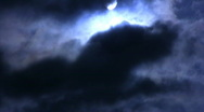 Stock Video Footage of Time Lapse Moon and Clouds 09 x5 Loop