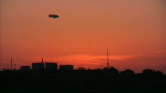 Zeppelin Sunset 02 Loop - stock footage