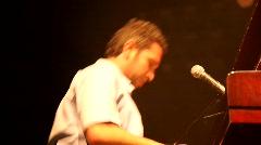 Earth Day party 2010: Shlomi Shabat on the piano Stock Footage
