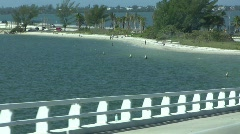 Stock Video Footage of Sanibel Causeway