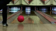 Stock Video Footage of Girl Bowling