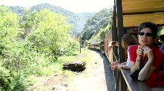 Tourists on Train Ride 1 Stock Footage