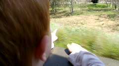 Boy on Train Ride 3 - stock footage