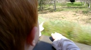 Boy on Train Ride 3 Stock Footage